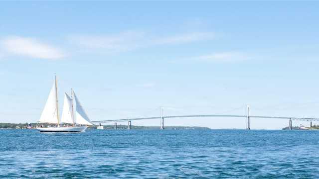 Sailboat in Newport Harbor