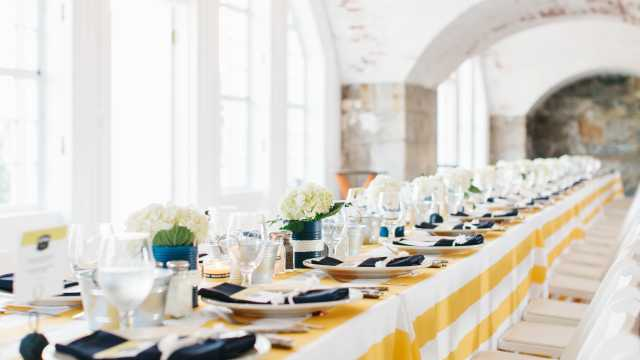 Fort Adams Casemates Table Decor for Clambake