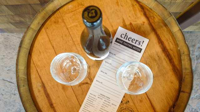 Wine tasting at Newport Vineyards