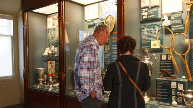 Guests at Tennis Hall of Fame Museum