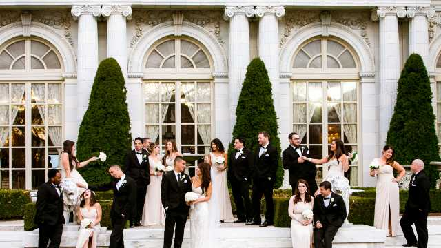 Wedding at Rosecliff Mansion