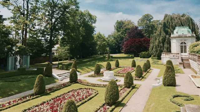 Garden at The Elms Mansion