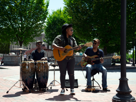 Asheville's Busking Scene Keeps Music in the Air