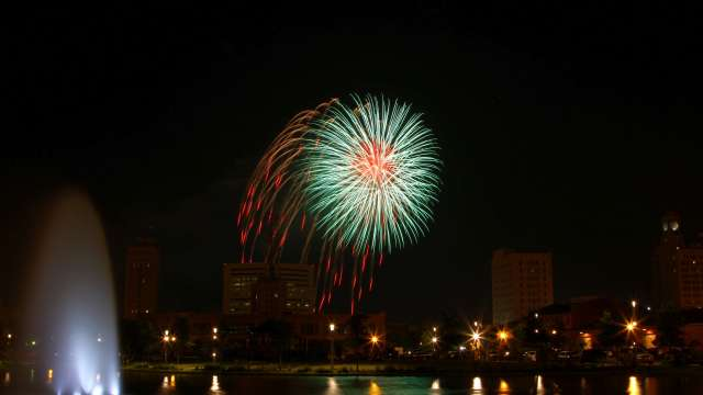 Downtown Fireworks in Beaumont Texas