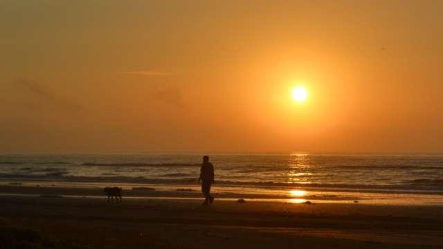 Morning Walk at Crystal Beach