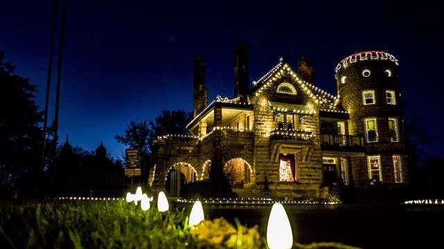 Riverside Castle Christmas Lights