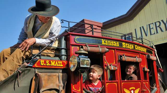Old Cowtown Museum stagecoach