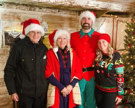 Owners of the Avon Wedding Barn at the Festival of Trees