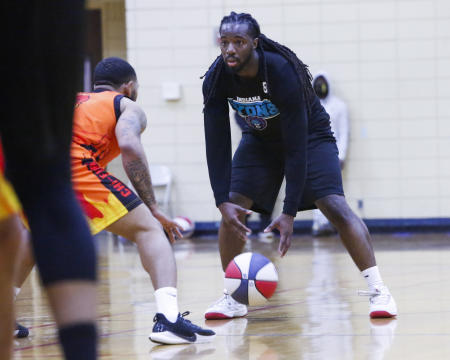 Kendric Lee, owner and trainer at Southern Impact, knows a thing or two about basketball. He plays for the Indiana Lyons in the American Basketball Association! (Photo by Antonio Toppin)