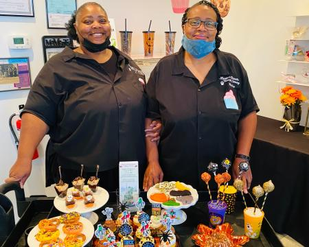 Marsha Quarles and Michelle Avant of Marsha's Speciality Desserts and Tierney's Catering