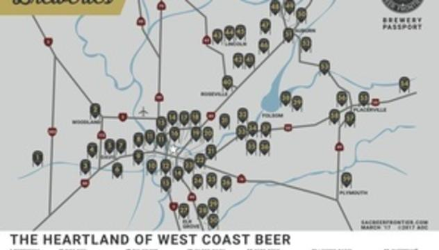 Beer Guide Visit Sacramento - Us-brewery-map