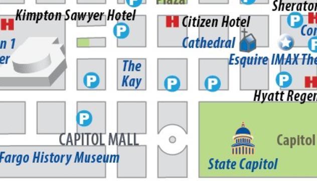 Maps | Visit Sacramento Downtown Sacramento Parking Map on