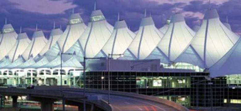 Denver International Airport At Night