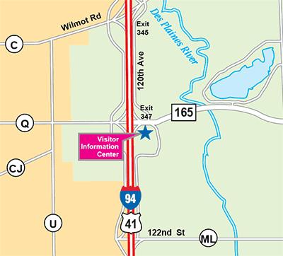 I-94 Visitor Information Center map
