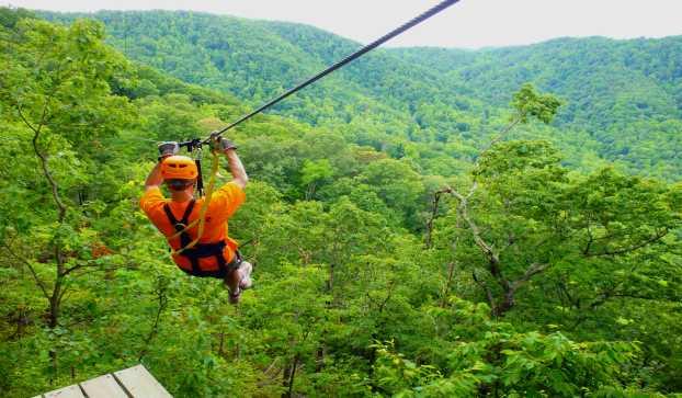 Ziplining Visitgreenvillesc