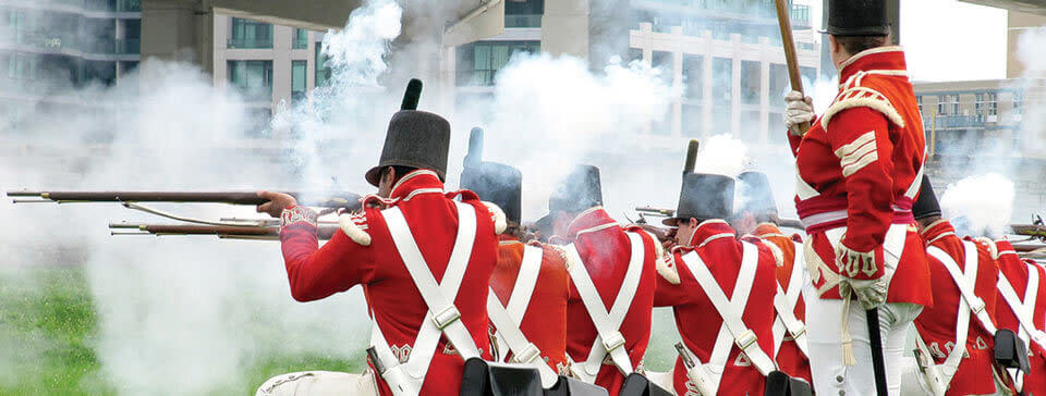 War of 1812 recreation at Fort York