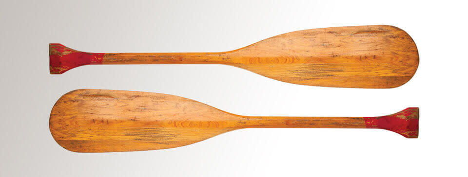 oars on white background