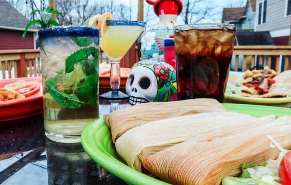 Tamales and drinks from Juannita's