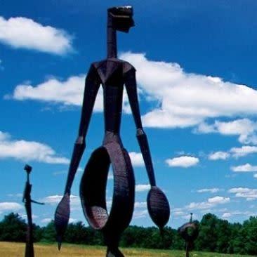 A sculpture at Griffis Sculpture Park