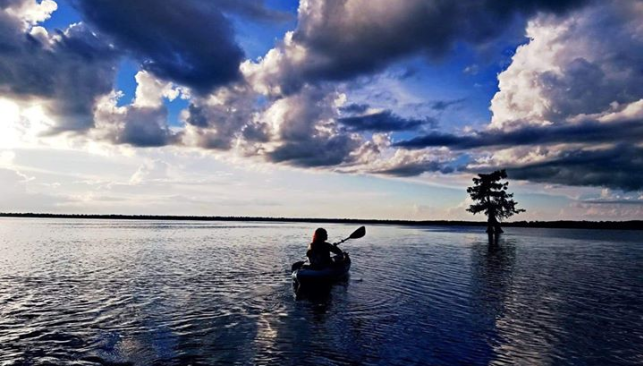 Kayak on Lake Drummond