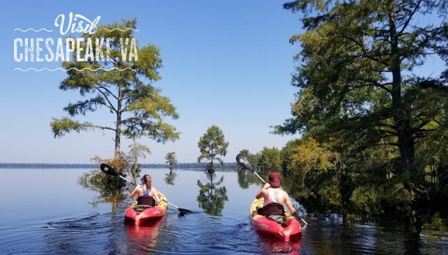 Kayaking on Lake Drummond
