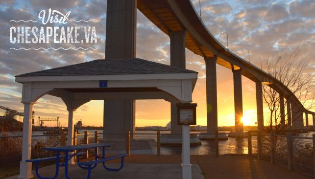 Elizabeth River Park sunset puzzle photo