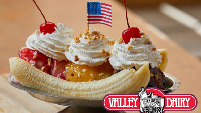 Valley Dairy Banana Split
