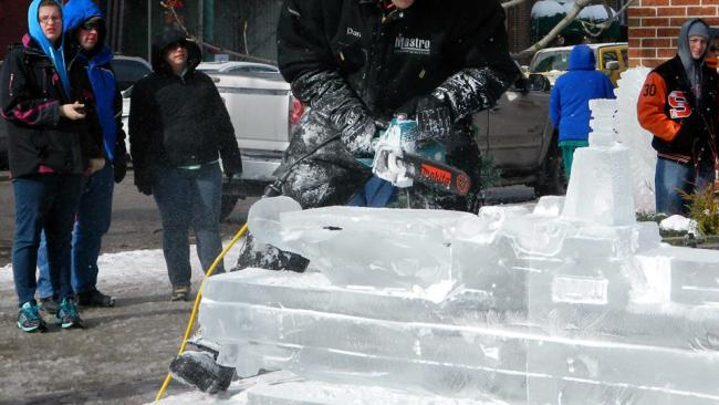 Fire & Ice Festival Sculpting