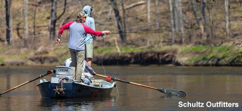 Schultz Outfitters fishing on the Huron River