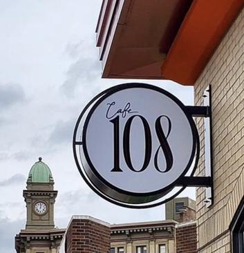 Cafe 108 sign