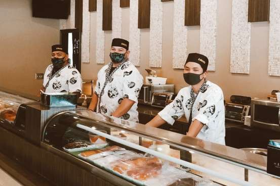 Sansu Staff with Masks