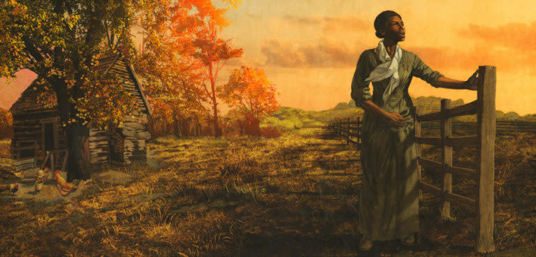 Art at Large, Sally Comport illustration for Harriet Tubman Underground Railroad Visitor Center