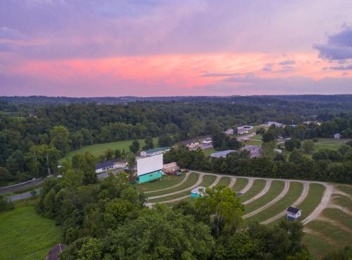 Aerial view of Georgetown Drive-In in Southern Indiana