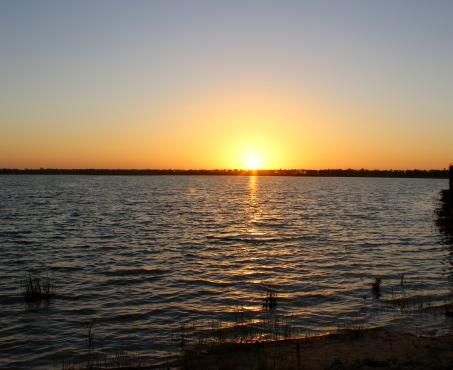 Sunrise at Lake Babcock in Babcock Ranch, America's First Solar-Powered Town