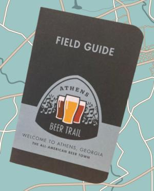 Athens Beer Trail Field Guide Cover w/map