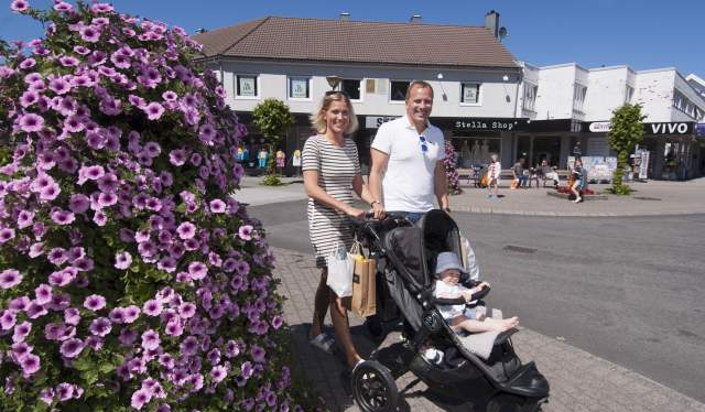 Family shopping in Lyngdal Norway