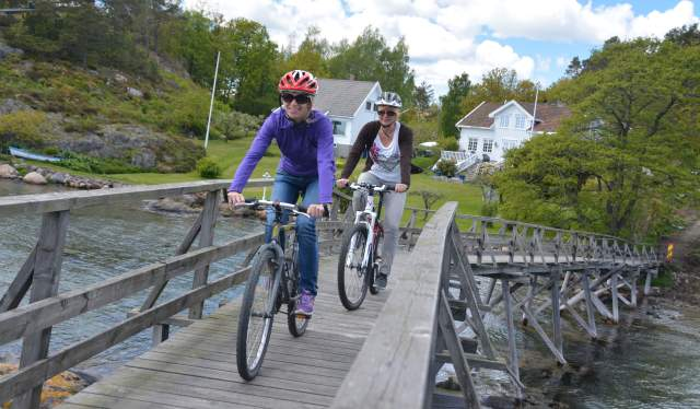 Cycling at Marivold, Grimstad