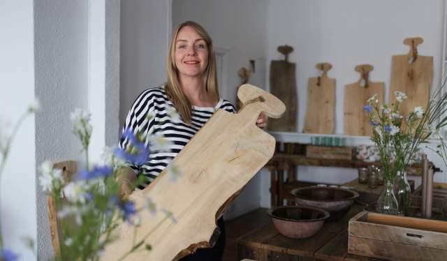 Elisabeth Ellefsen hos DesignSalong i Tvedestrand