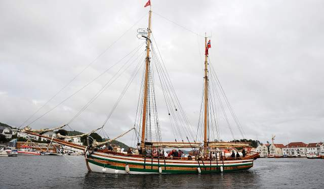 Adella in Farsund harbour