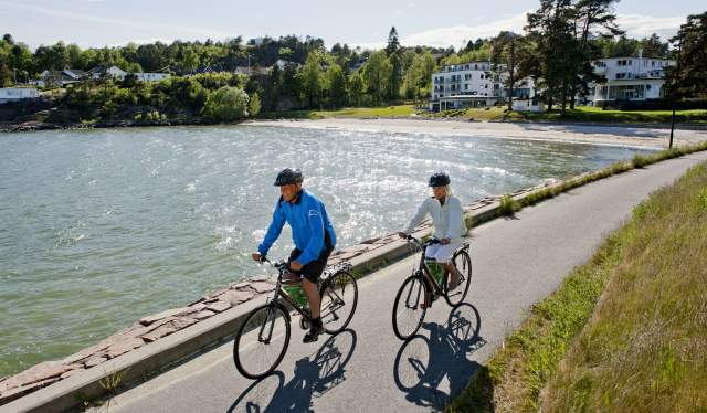 Biking in Fevik Grimstad, Southern Norway