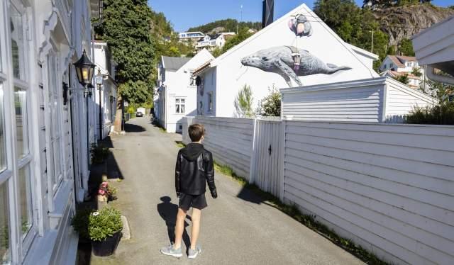 Street art in Hollenderbyen in Flekkefjord