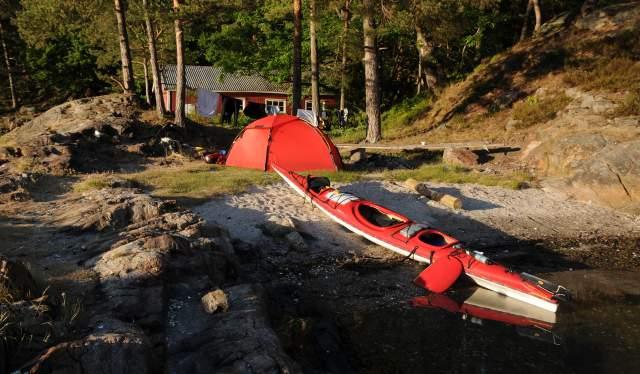 Kajakk ved Furøya, Hestøya i Tvedestrand