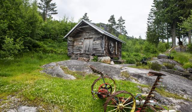 Buret gammelt uthus - Eikerapen Gjestegard - Eikerapen i Åseral