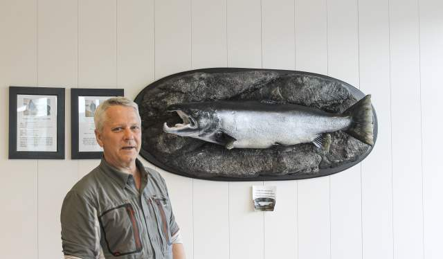 Jan Ole Ødegård and his salmon in Lyngdal