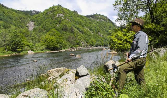 Fisherman at Lygna River Lyngdal Norway