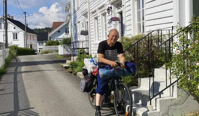Nedre Feda, Johan Peter Magnus på sykkel