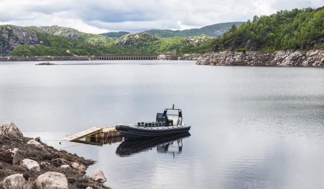 RIB på Øvre Skjerkevatn - Eikerapen Gjestegard - Eikerapen i Åseral