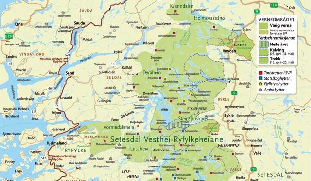 Setesdal Vesthei Ryfylkeheiene