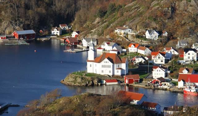 Kirkehamn uthavn på Hidra