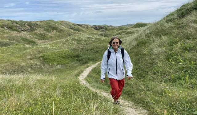 Kyststien Lista. Stiene går gjennom vakkert sanddynelandskap.